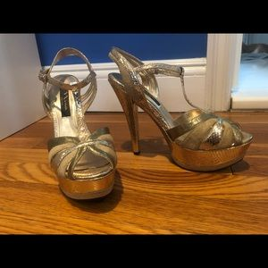 NINA Shoes Gold Heel